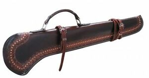 LEATHER RIFLE SHOTGUN SCABBARD HUNTING STORAGE HORSE CAR MOTORCYCLE