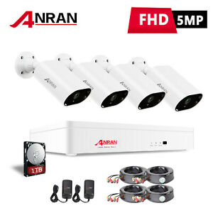 Zoohi Home 8CH DVR 1080P Security Camera System Outdoor CCTV HDMI Night Vision