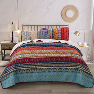 Luxury Classic Quilt Bedspread Pillowcases Coverlet Set Full Queen King Size New