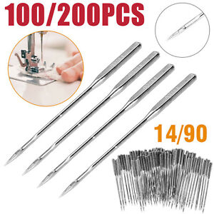 100PCS Threading Singer Sewing Machine Needles For Household Domestic Home 14 90 $6.64