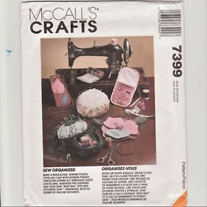 McCalls Crafts 7399 Sewing Organization Caddy Tote Case Pouch Pin Cusion $10.00
