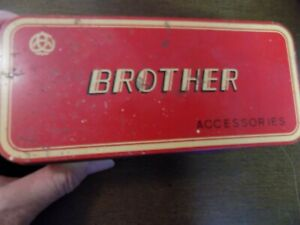 BROTHER SEWING MACHINE ACCESSORIES VINTAGE IN TIN $20.00
