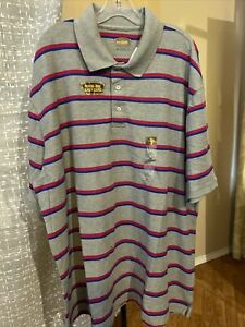 $40 NWT The Foundry Supply Co Rblue Brill Rose Pullover Quick Dri Polo Size 3XLT $13.00