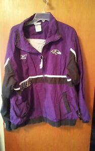 Reebok Baltimore Ravens NFL 2XL Zip Front Jacket Coat Football Tailgate