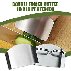 Kitchen Gadgets Stainless Steel Multi Purpose Anti Cutting Finger Guard $1.96