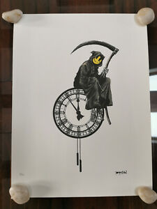 Banksy Grim Reaper 19 150 with sign and certificate Dismalad Kaws $1000.00