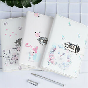 Creative A5 PU Leather Journal Notebook Paper Diary Planner with Lock Password $28.99