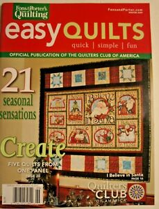 Fons and Porter Love of Quilting quot;easy quiltsquot; Winter 2009 $6.79