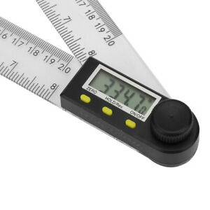 Digital Angle Finder Protractor PVC 0 200 Mm Long life Electronic Goniometer $16.69
