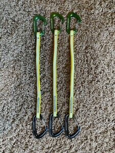 Metolius Climbing Set of 3 Long Draws with FS mini and Bravo Carabiners $40.00