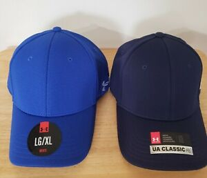 2 New UNDER ARMOUR Hats with HEATGEAR Sweatband Built In Size LG XL $19.50