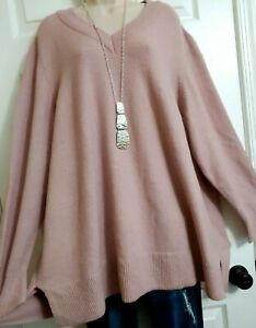 Lane Bryant NWT $60 Soft Stretchy Sweater Top Plus 22 24 2X 3X Victorian Rose $22.00