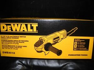 DEWALT DWE4012 7 Amp 4 1 2quot; Small Angle Grinder with Paddle Switch New $70.50