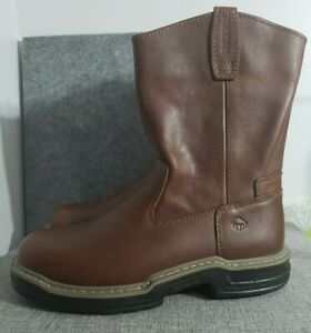 Wolverine Raider Wellington Leather Work Boots W02429 Brown Mens Size 8.5M $79.99