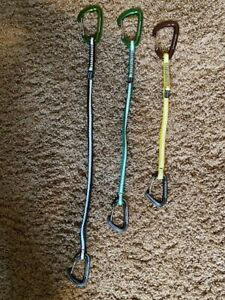 Metolius Climbing Long Draw Set of 3 w FS mini and Inferno wire gate carabiners $45.00