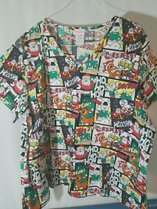 RUDOLPH THE RED NOSED REINDEER NURSES SCRUBS SMOCK SIZES 3XL NWT