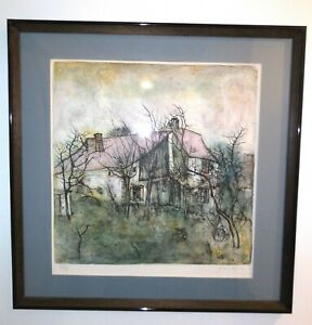 Bernard Gantner Framed Lithograph Signed Numbered 72 375 with COA 21quot; x 21quot; $149.25