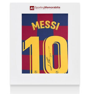 Lionel Messi Signed FC Barcelona 2019 20 Home Shirt Number 10 Gift Box GBP 525.99