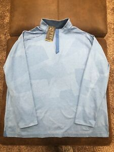 Under Armour Heatgear 2XL XXL 1 4 Zip Run Golf Long Sleeve Pullover Light Blue $34.99