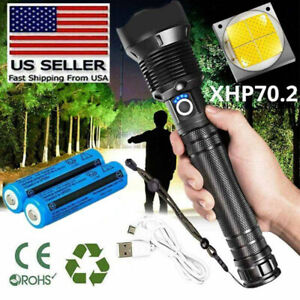 350000Lumens Zoom Powerful LED Flashlight Torch Lamp Rechargeable Lamp PI $7.64