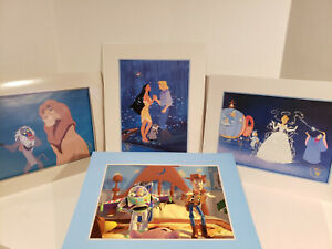 DISNEY LITHOGRAPHS LOT OF 4: TOY STORY THE LION KING CINDERELLA POCAHONTAS $24.98