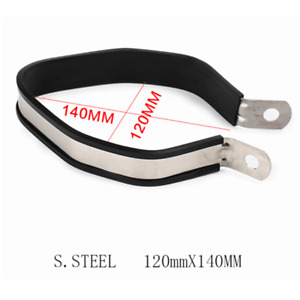 Stainless Motorcycle Exhaust Pipe Hanging Clamp Strap Mount Bracket 120*140MM $9.99