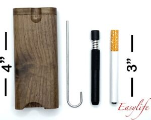 Wood Dugout 4 With 3 Self Cleaning One Hitter Clean Out 3 Metal Hitter $12.98