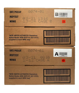 MRE MILITARY 2021 INSPECTION A B or A and B case $110.00
