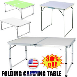 Portable Aluminum Rectangle Folding Outdoor Camping Kitchen Work Top Table US