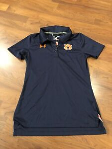 auburn tigers under armour Polo SS Loose Semi Fitted Blue Womens XS $10.00