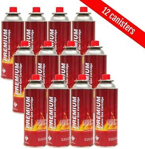 Butane Fuel Canisters for Portable Camping StovesGas Burners UL Listed 12pk