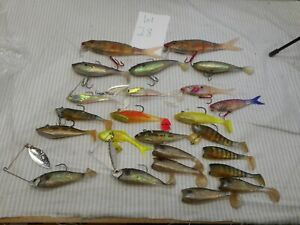 17 Vintage Lures Storm and others soft plastic LOT #28