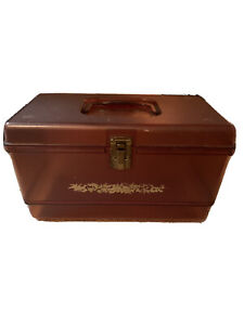 Vintage Amber Plastic Sewing Box $11.00