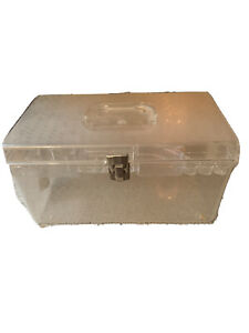 Vintage Sewing Box Clear Wilson Wil Hold $15.00