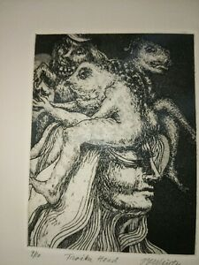 Printmaking Etching signed and numbered 9 10 $21.95