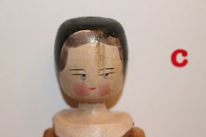 Vintage Antique Wooden Peg Doll Dutch Doll Hand Painted amp; Carved German Doll 11quot; $52.00