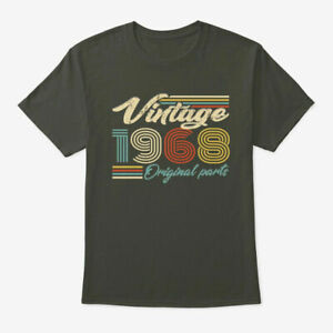 Vintage 1968 Birthday Original Parts Gildan Tee T Shirt