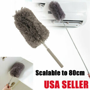 Adjustable Soft Microfiber Feather Duster Dusting Cleaning Brush Household Tool $8.59