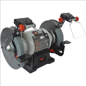 PORTER CABLE 6 in Bench Grinder with Built in Light Shaping Grinding Sharpening