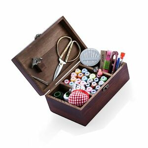 Wooden Sewing Kits Sewing Boxes and Baskets with Sewing Accessories Kit Good... $43.99
