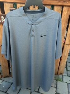 Men's Nike DRY FIT Shirt Size 2XL 3 Button Shirt Charcoal. $11.00