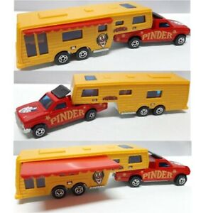 Majorette truck trailer tractor camping car Pinder circus toy model diecast 1 60