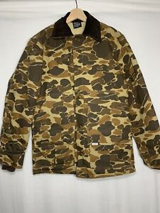 Vintage Thinsulate 3m Carhartt Hunting Camoflauge Duck Camo Quiled Jacket Coat S
