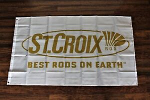New Saint Croix St. Banner Flag Best Fishing Rods on Earth Marina Tackle Shop