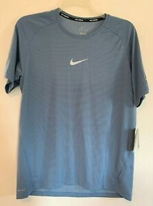Nike Running Mens Aeroreact Dri Fit Shirt 717972 404 Large $29.99