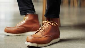 RED WING 6 INCH CLASSIC MOC BOOT ORO LEGACY US MENS SIZES 875