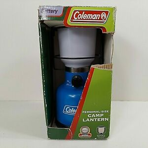 Coleman Camp Lantern Model 5310 Blue Battery Portable Personal Size Working $24.95