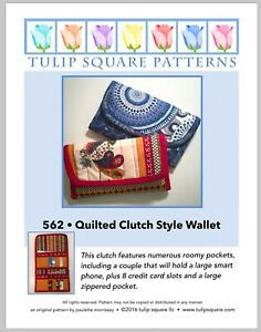 Quilted Clutch Quilted Wallet Quilted Sewing Pattern by Tulip Square Studio $7.95