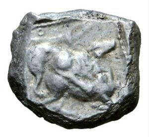 Cyprus Kition AR Stater. Azbaal circa 449 425 BC. Ancient Greek. Very rare $500.00