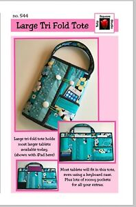 Quilted Large Tablet Tote Quilted Sewing Pattern by Tulip Square Studio $7.95